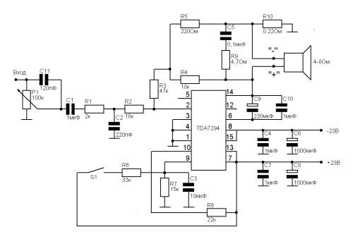 MF-1. TDA7294.