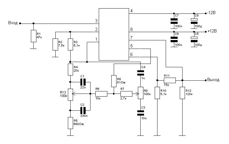 TDA7924 + MC33078(LT1355)