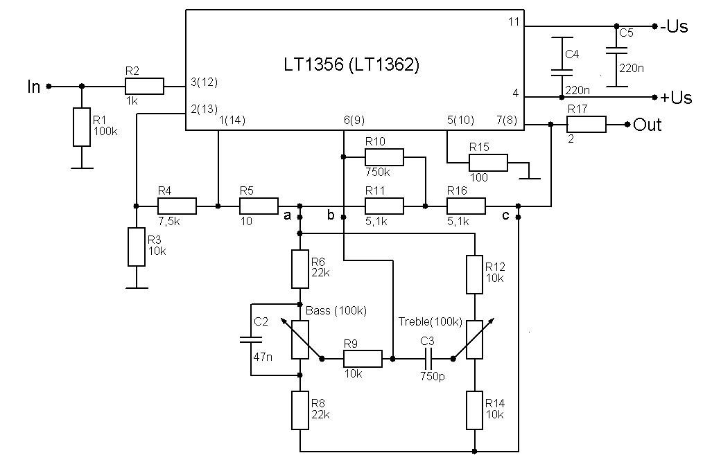 Рис.3-Схема темброблока.