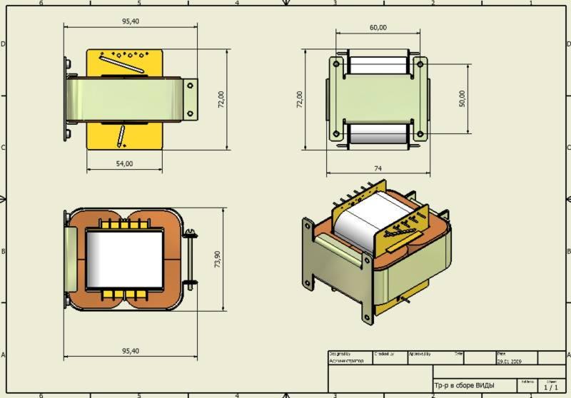 Конструкция трансформатора и
