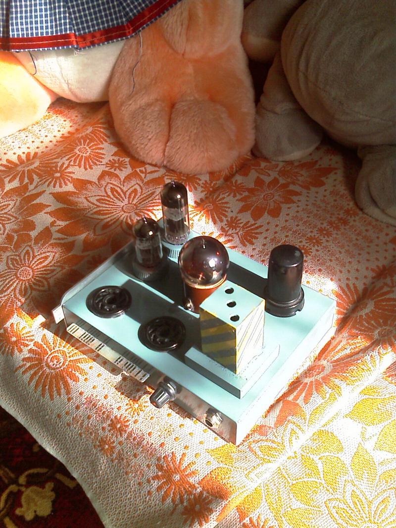 Водяной чип - ламповый усилитель для наушников на 6Н6П и 6Н23П.